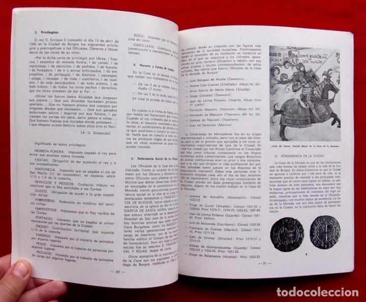 Catálogos y Libros de Monedas: LA CECA DE BURGOS. AÑO: 1983. BUEN ESTADO. ACUÑACIONES DE MONEDA. SIGLOS XI AL XVIII. - Foto 8 - 195326466