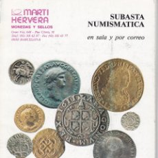 Cataloghi e Libri di Monete: CATÁLOGO SUBASTAS. MARTÍ HERVERA. BARCELONA, 24 NOVIEMBRE 1994. NO CONTIENE PRECIOS REALIZADOS. Lote 149666934