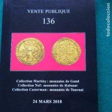 Catálogos y Libros de Monedas: CATÁLOGO 136 JEAN ELSEN BRUXELLES MONEDA ANTIGUA Y MODERNA. Lote 149715630