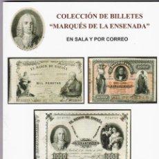 Catálogos y Libros de Monedas: SUBASTAS AUREO.COLECCIÓN BILLETES MARQUÉS DE LA ENSENADA.FEBRERO 2015.NO CONTIENE PRECIOS REALIZADOS. Lote 150082038