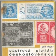 Catálogos y Libros de Monedas: CATALOGO BILLETES CHECOSLOVAQUIA. Lote 150442914