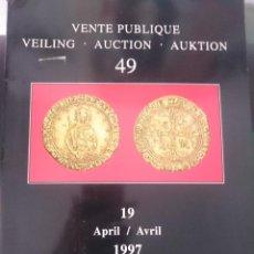 Catálogos y Libros de Monedas: VENTE PUBLIQUE VELLING AUCTION AUKTION AVRIL 1997 MONEDAS. Lote 150679346
