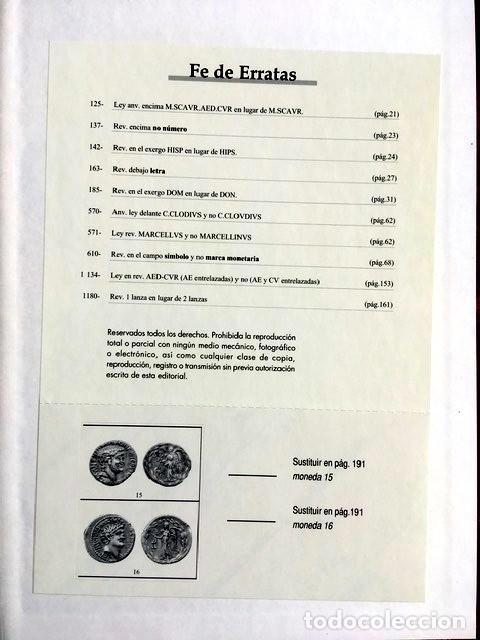 Catálogos y Libros de Monedas: CATALOGO MONOGRAFICO DE LOS DENARIOS DE LA REPUBLICA ROMANA (Incluyendo Augusto) - - Foto 4 - 151142742