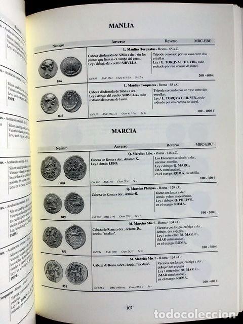 Catálogos y Libros de Monedas: CATALOGO MONOGRAFICO DE LOS DENARIOS DE LA REPUBLICA ROMANA (Incluyendo Augusto) - - Foto 6 - 151142742