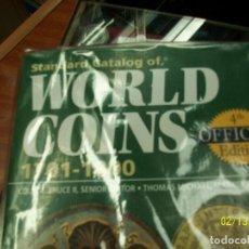 Catálogos y Libros de Monedas: CATALOGO DE MONEDAS-WORLD COINS-DESDE 1701 A 1800. Lote 151158382