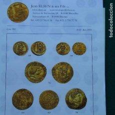 Catálogos y Libros de Monedas: CATÁLOGO JEAN ELSEN BRUSELAS MONEDA GRIEGA, CELTA, ROMANA, BIZANTINA MEDIEVAL Y MODERNA. Lote 151874758