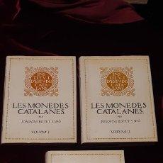 Catálogos y Libros de Monedas: LES MONEDES CATALANES. ESTUDI Y DESCRIPCIÓ DE LES MONEDES CAROLINGIES COMTALS SENYORIALS REYALS Y LO. Lote 151987961