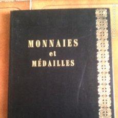 Catálogos y Libros de Monedas: LIBRO MONEDAS Y MEDALLAS ,MONTE CARLO 22,23 DE ABRIL DE 1977 ILUSTRADO. Lote 152419262