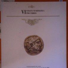 Catálogos y Libros de Monedas: VI SUBASTA NUMISMATICA POR CORREO 14 DE JUNIO DE 2000 AFONSA . Lote 152536122