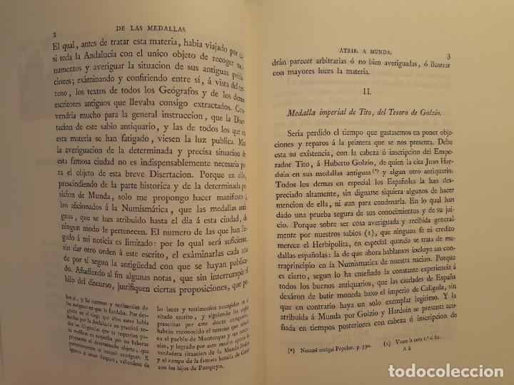 Catálogos y Libros de Monedas: Examen de las medallas antiguas atribuidas a la ciudad de Munda (Facsímil 1799). Monedas Numismática - Foto 3 - 220890497
