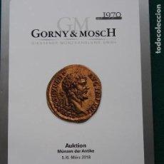 Catálogos y Libros de Monedas: CATÁLOGO GORNY & MOSCH MARZO 2018 Nº 252 CELTAS, GRIEGOS, ROMA, BIZANCIO, GERMANOS. Lote 153187974