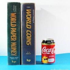 Catálogos y Libros de Monedas: LOTE 2 CATALOGOS MONEDAS Y BILLETES 1994: WORLD COINS 21 EDICION 2128 PAG+WORLD PAPER MONEY 128 PAG. Lote 153816454