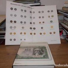 Catálogos y Libros de Monedas: HISTORIA DE LA PESETA. LA ESPAÑA CONTEMPORÁNEA A TRAVÉS DE SU MONEDA. M . MARTORELL. INCLUYE POSTER.. Lote 155321678