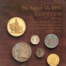 Catálogos y Libros de Monedas: THE AUSGUST 13, 1995. AUCTON. DR. JOHN JACOBS COLLECTION. . Lote 156111650