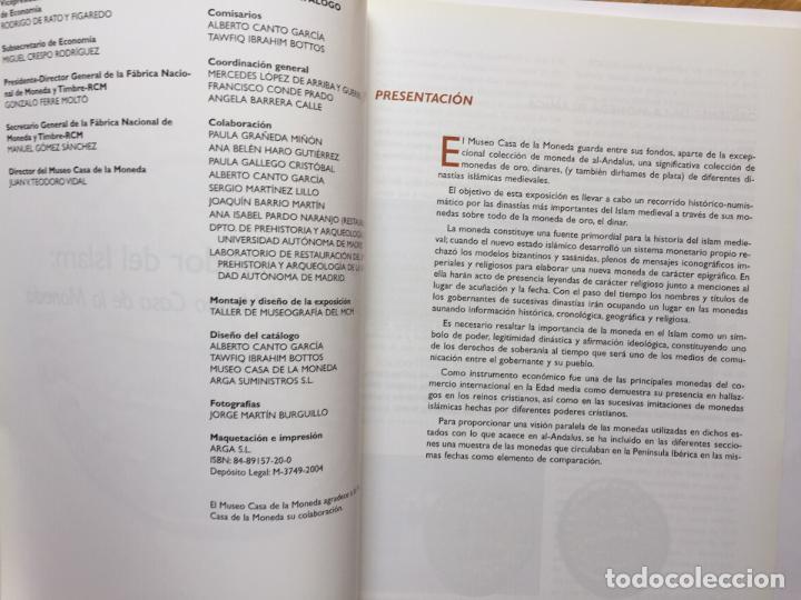 Catálogos y Libros de Monedas: Numismática: Un resplandor del Islam: los dinares (Casa de la Moneda, 2004) Catálogo. ¡ORIGINAL! - Foto 4 - 266975194