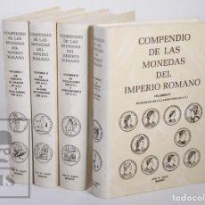 Catálogos y Libros de Monedas - Colección de 4 Tomos - Compendio de las Monedas del Imperio Romano, Juan R. Cayón - Madrid, 1995 - 164707906