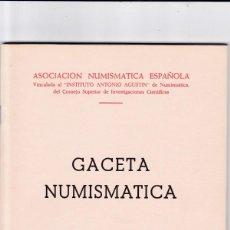 Catálogos y Libros de Monedas: GACETA NUMISMATICA - Nº 14 / SEPTIEMBRE 1969 - ILUSTRADO. Lote 165097158