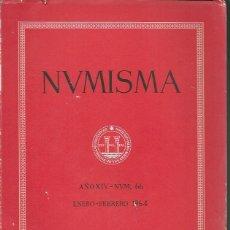 Catálogos y Libros de Monedas: NUMISMA. AÑO XIV. NÚM. 66. ENERO-FEBRERO 1964. Lote 166511718