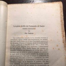 Catálogos y Libros de Monedas: LA GRAN DOBLA DE FERNANDO EL SANTO. PÍO BELTRÁN. Lote 166546517