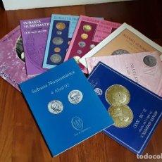 Catálogos y Libros de Monedas: 8 CATALOGOS SUBASTA NUMISMATICA JOSE A. HERRERO.1995-2002.. Lote 167498364