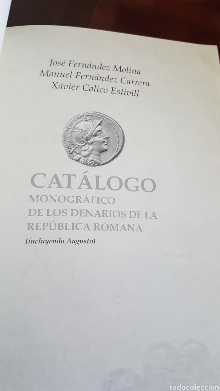 Catálogos y Libros de Monedas: CATALOGO MONOGRÁFICO DE LOS DENARIOS DE LA REPUBLICA ROMANA - Foto 2 - 195041948