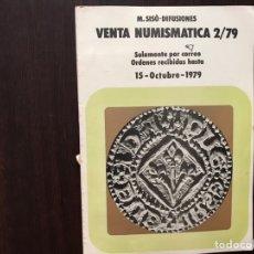 Catálogos y Libros de Monedas: VENTA NUMISMÁTICA 2/79 15 OCTUBRE 1979. Lote 167971609