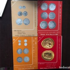 Catálogos y Libros de Monedas: JESÚS VICO & DANIEL MUR. Nº 30,31,32 Y 33. SUBASTAS. Lote 167972484