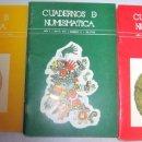 Catálogos y Libros de Monedas: CUADERNOS DE NUMISMATICA- COLECCION COMPLETA. Lote 168563108