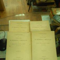 Catálogos y Libros de Monedas: CATÁLOGO COLECCIÓN DE MONEDAS Y MEDALLAS DE MANUEL VIDAL QUADRAS Y RAMÓN. 4 TOMOS. FACSIMIL 1975. Lote 172093244