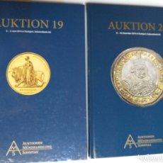 Catálogos y Libros de Monedas: CATÁLOGO SUBASTAS MONEDAS .AUKTION 19 AUKTION 20. Lote 172243950