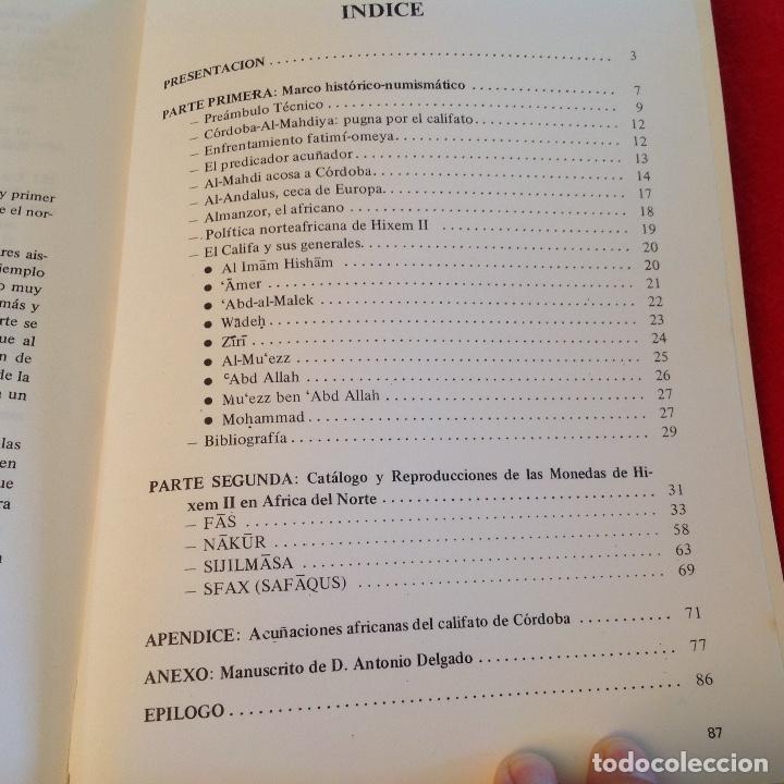 Catálogos y Libros de Monedas: Las acuñaciones del Califato de Córdoba en el norte de África, de J.I. Sáenz Diez, edit. Vico 1984, - Foto 5 - 254328580
