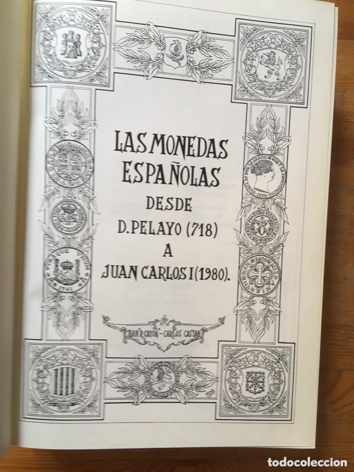 Catálogos y Libros de Monedas: MONEDAS ESPAÑOLAS - DESDE PELAYO (718) A JUAN CARLOS I(1980) CASTAN - CAYON - 1979 - Foto 2 - 172466707