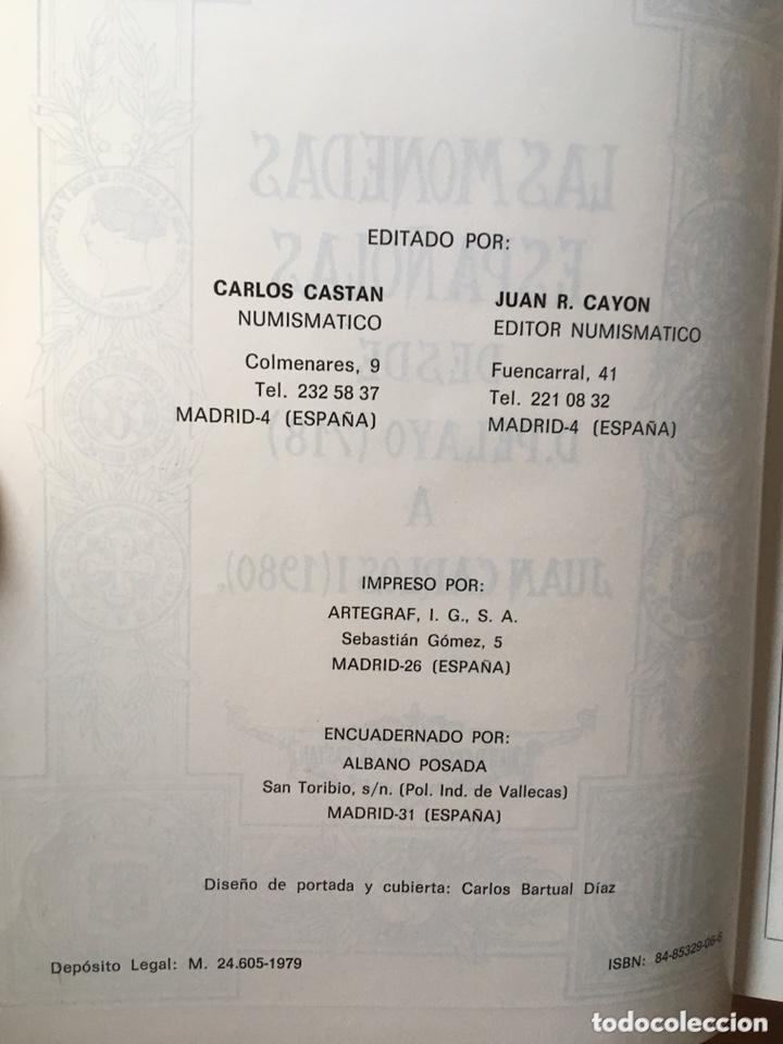 Catálogos y Libros de Monedas: MONEDAS ESPAÑOLAS - DESDE PELAYO (718) A JUAN CARLOS I(1980) CASTAN - CAYON - 1979 - Foto 3 - 172466707