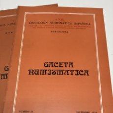 Catálogos y Libros de Monedas: GACETA NUMISMATICA 1978. Lote 172797715
