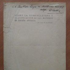 Catálogos y Libros de Monedas: SEPARATA 'SOBRE NOMENCLATURA Y CLASIF. MONEDAS ESPAÑA ANTIGUA' (CASTO M. DEL RIVERO, 1935). Lote 173960674