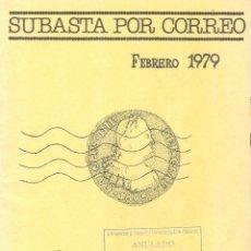 Catálogos y Libros de Monedas: NUMINTER - MADRID - SUBASTA POR CORREO - FEBRERO 1979. Lote 175256944