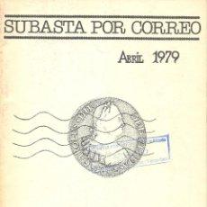Catálogos y Libros de Monedas: NUMINTER - MADRID - SUBASTA POR CORREO - ABRIL 1979. Lote 175257048