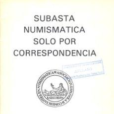 Catálogos y Libros de Monedas: NUMISMÁTICA MOREDA (J. L. MOREDA) - VALLADOLID - SUBASTA POR CORRESPONDENCIA - 16 OCT 1982. Lote 175257248