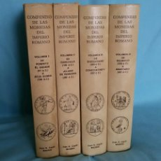 Catálogos y Libros de Monedas: COLECCIÓN DE 4 TOMOS - COMPENDIO DE LAS MONEDAS DEL IMPERIO ROMANO, JUAN R. CAYÓN - MADRID, 1985. Lote 176071714