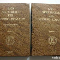 Catálogos y Libros de Monedas: LOS SESTERCIOS DEL IMPERIO ROMANO. VOLUMEN I Y II. JUAN R. CAYÓN. Lote 177264065