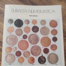 Catálogos y Libros de Monedas: SUBASTA NUMISMÁTICA ÁUREO MONEDAS Y BILLETES LIBRO CATALOGO. Lote 177561373