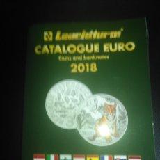Catálogos y Libros de Monedas: CATALOGO MONEDAS EUROS LEUCHTTURM 2018. Lote 177692103