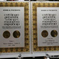 Catálogos y Libros de Monedas: CATALOGO GENERAL DE LA MONEDA ESPAÑOLA. TOMOS III: 1868-1975 Y TOMO I: 1475-1700. Lote 177741873