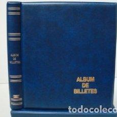 Catálogos y Libros de Monedas: ALBUM BILLETES LUXE 27X33CM. 4 ANILLAS.AZUL.LUXE. Lote 222035376