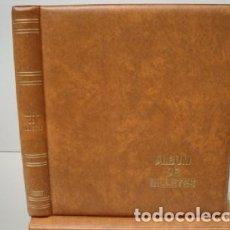 Catálogos y Libros de Monedas: ALBUM BILLETES LUXE 27X33CM. 4 ANILLAS.BEIGE.LUXE. Lote 222035622