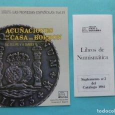 Catálogos y Libros de Monedas: NUMISMATICA - EDITORIAL VICO SEGARRA - 2 FOLLETOS DE PUBLICIDAD - VER FOTOS. Lote 178273370