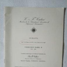 Catálogos y Libros de Monedas: CATÁLOGO SUBASTA NUMISMÁTICA R.&F. CALICÓ 1974. Lote 178370558