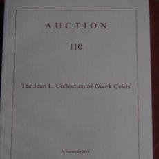 Cataloghi e Libri di Monete: CATALOGO NUMISMATICA ARS CLASSICA 24/9/2018 AUCTION 110 THE JEAN L. COLLECTION OF GREEK COINS. Lote 178578057