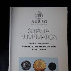 Catálogos y Libros de Monedas: CATALOGO SUBASTA AUREO. MAYO 1999. Lote 180339045