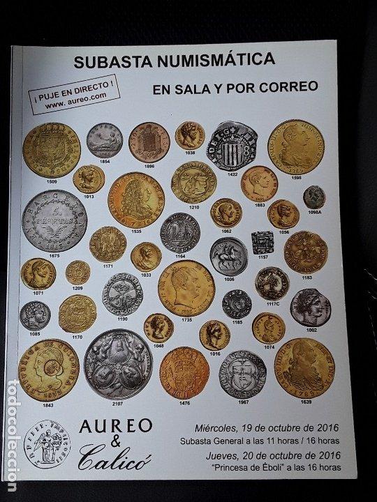 CATALOGO SUBASTA AUREO. OCTUBRE 2016 (Numismática - Catálogos y Libros)